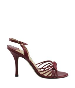 Jimmy Choo Leather Red Sandals