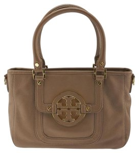 Tory Burch Amanda Satchel Shoulder Amanda Satchel Tote in Brown
