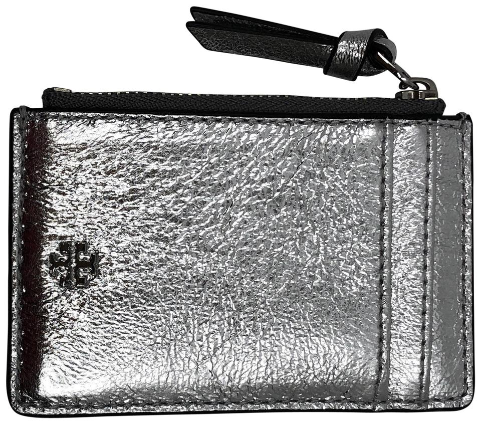 e763f0bbdc6 Tory Burch NWOT Tory Burch Crinkle Metallic Leather Zip Card Case Wallet  Image 0 ...
