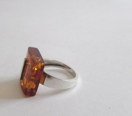 Silver Style Silver Style .925 Sterling Silver Amber Ring size 8