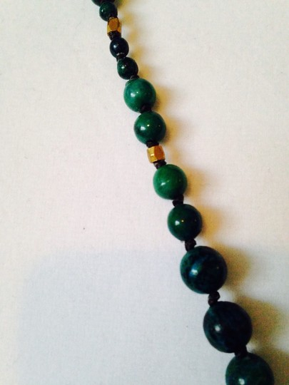 Panacea Cache Panacea NWOT Faceted Large Chrysocolla Gemstone & HandKnotted Beads With Chain Necklace