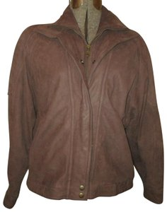Wilsons Leather Vintage Bomber Nubuck Men's brown Leather Jacket