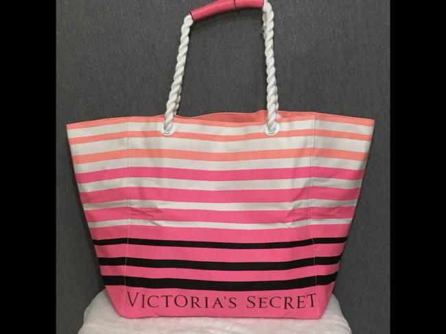 Item - Tote Limited Edition Striped Pink Canvas Beach Bag