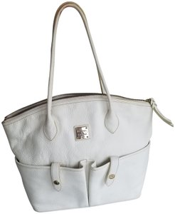 Dooney & Bourke Leather Pockets Tote in White