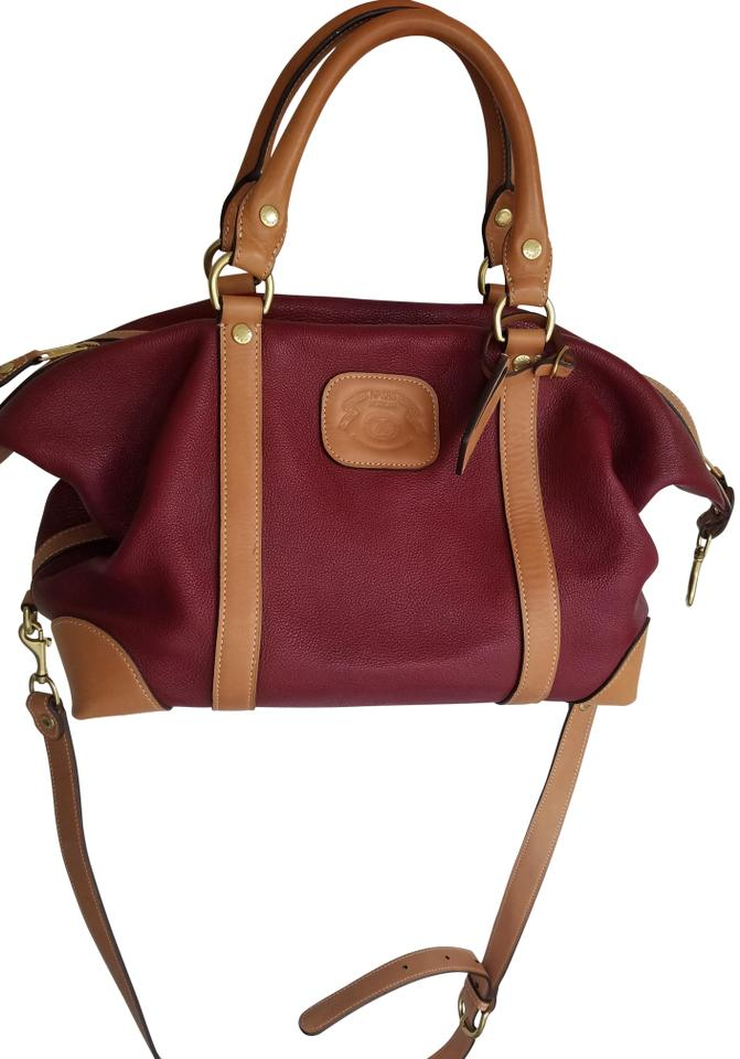 Ghurka Red And Tan Leather Weekend/Travel Bag