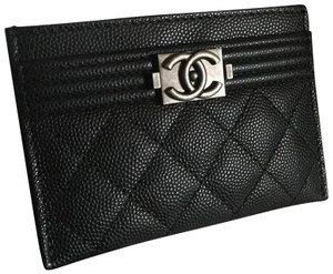 599d37c49196 Chanel Black Caviar Boy Rare 18p Card Case Wallet - Tradesy