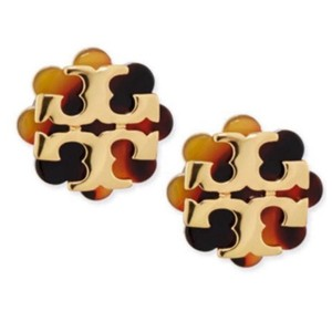Tory Burch flower Resin logo Stud Earrings