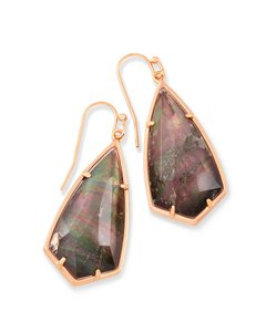 Kendra Scott NWT Kendra Scott Rose Gold Carla Drop earrings Crystal Gray Illusion