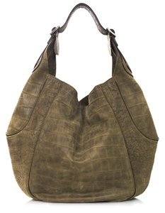 Givenchy Embossed Suede Hobo Shoulder Bag