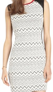 Wyatt short dress Cream, black on Tradesy