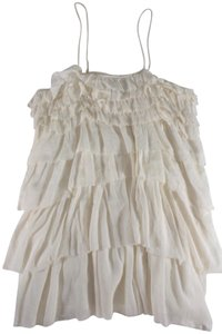 Étoile Isabel Marant short dress White Ruffled Layered on Tradesy