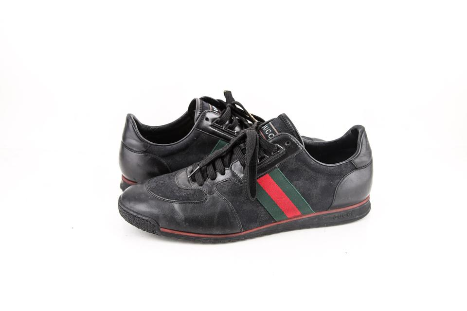 a0e109667 Gucci * Black Leather Trainers Sneakers Shoes. Size: US ...
