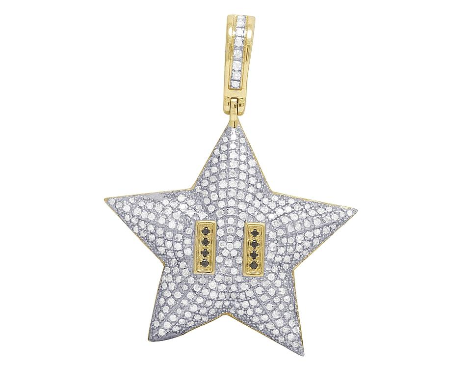 Jewelry unlimited 10k yellow gold men super mario star bros diamond jewelry unlimited men 10k yellow gold super mario star bros diamond charm pendant 110ct mozeypictures Images
