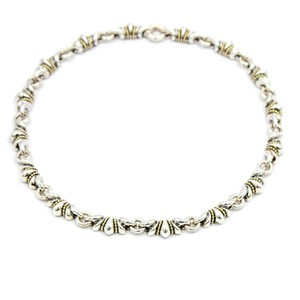 Lagos Lagos Caviar Vintage Necklace in 18k Yellow Gold and Sterling Silver