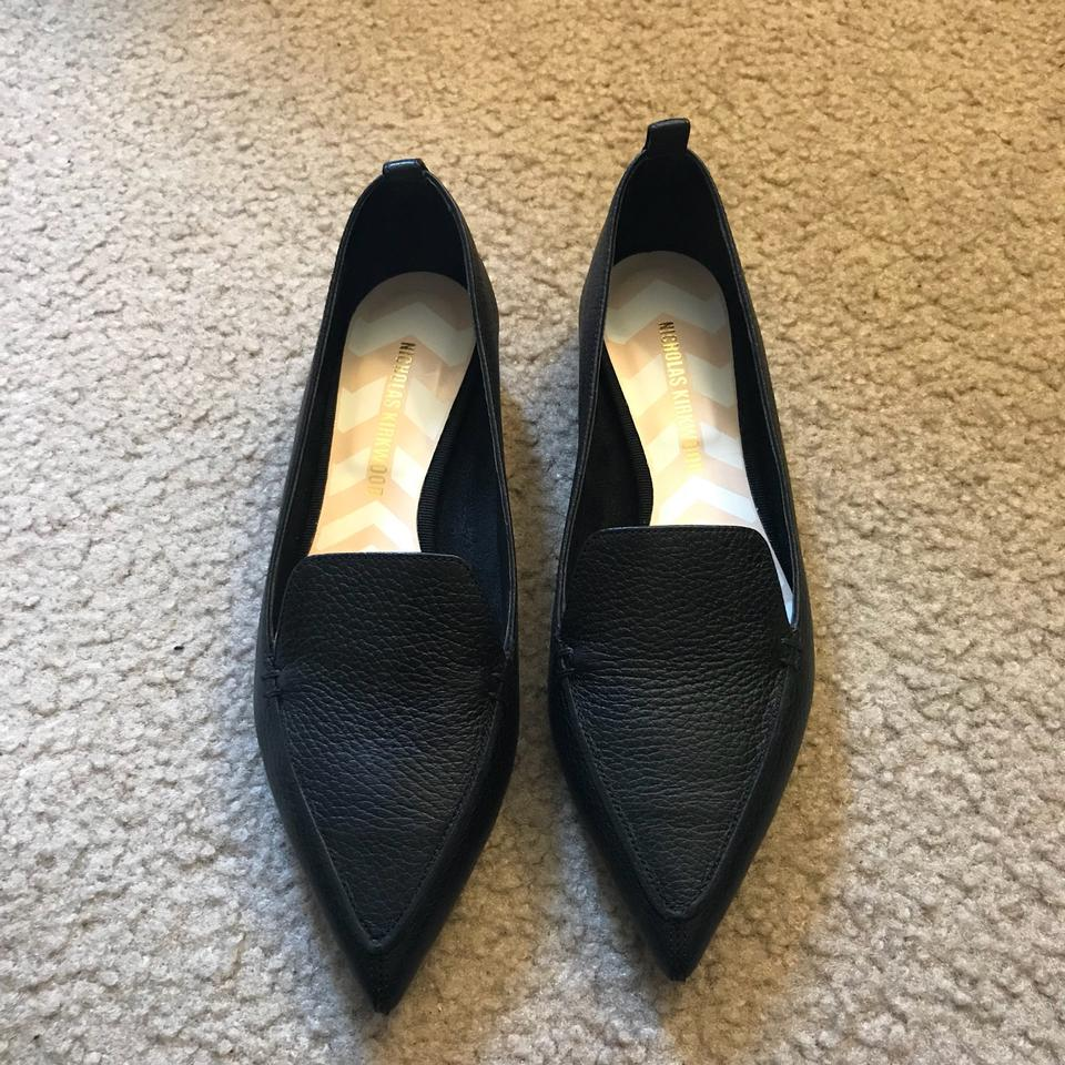 8aa1ecb3f8e Nicholas Kirkwood Black Gold Beya Pointy Pointed Toe Loafer Texture Leather  Loafers Flats Size EU 37 (Approx. US 7) Regular (M