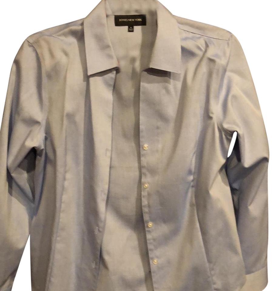 8d13664ad Jones New York Blue Button-down Top Size 10 (M) - Tradesy