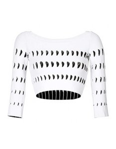 ALAA Cut Out Crop Top white