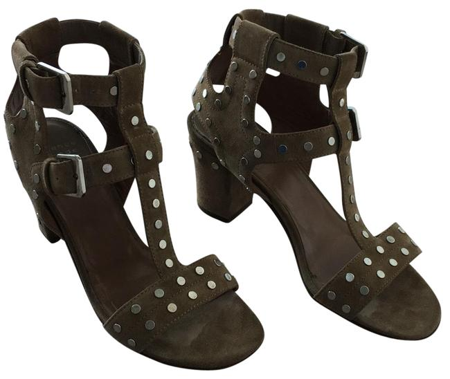 Item - Beige Suade and Silver Studs. Helie Sandals Size US 9 Regular (M, B)