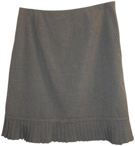 Larry Levine Classic Pleated Houndstooth Bow Pattern Skirt gray