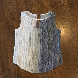 Renee C. Keyhole Sleeveless Stitchfix Resort Ombre Top light blue