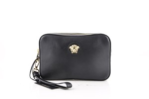 Versace Versace Medusa Leather Pouch Black