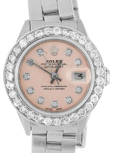 Rolex Ladies 26MM Datejust Oyster Pink Dial Diamond Watch 2.5 Ct