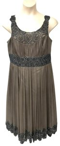 Adrianna Papell Gray Silk Dress