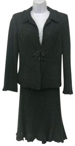 Nanette Lepore Nanette Lepore Black/Brown Boucle Skirt Suit 6