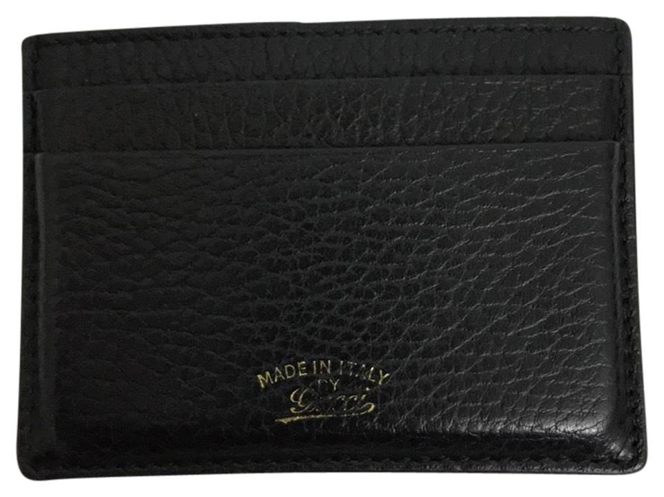 Gucci Black Swing Leather Card Case Wallet - Tradesy d5eb82e2af9