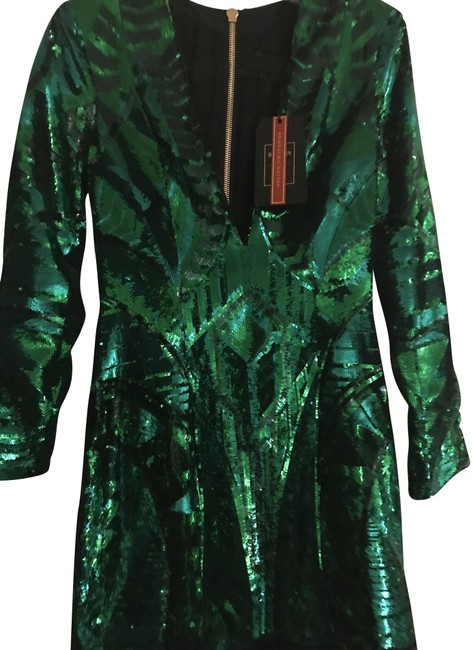 Item - Green Sequin Short Night Out Dress Size 6 (S)