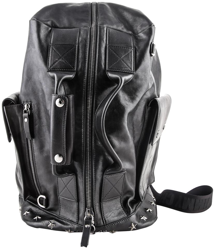 wholesale dealer best quality for shop for Jimmy Choo Duffle Backpack W Arlo Bls Leather Convertible W/Gu * Black  Weekend/Travel Bag 21% off retail