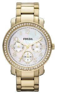 Fossil Fossil Women's Imogene Glitz White Dial Gold Tone Stainless Steel Multi Function Watch ES2968