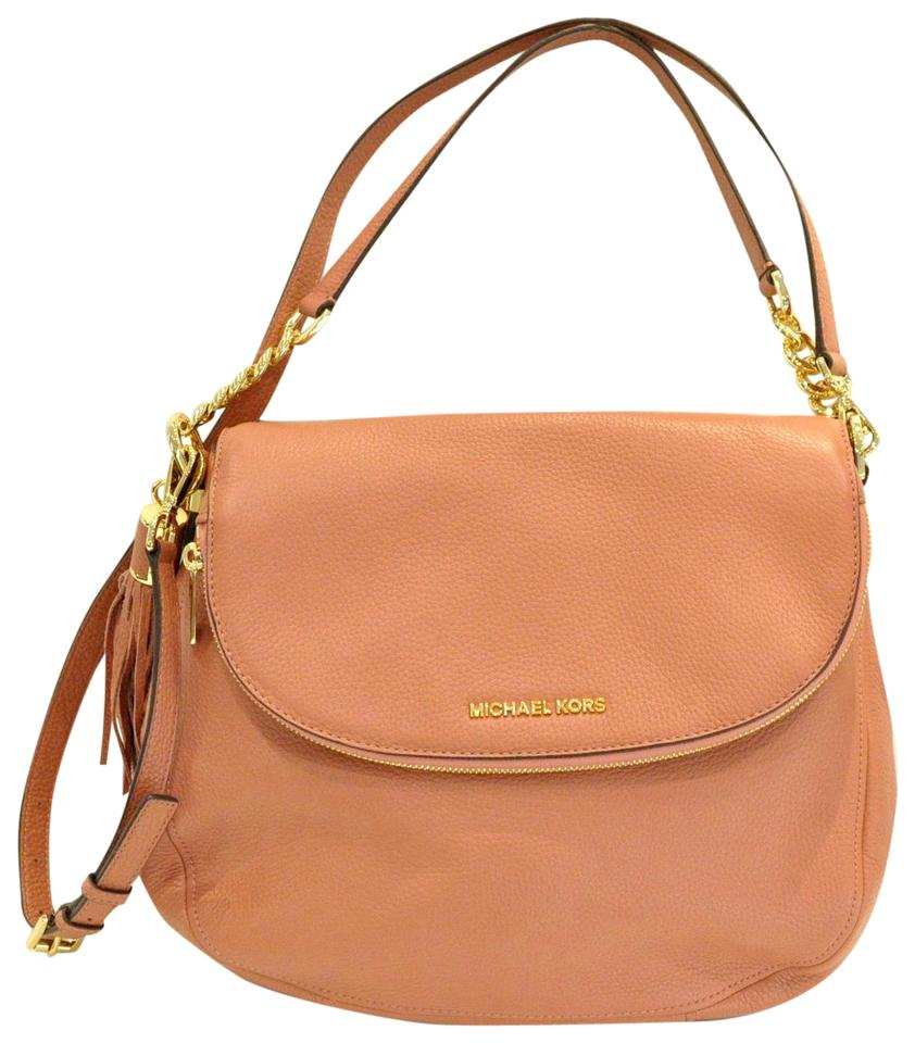 63f156a9ccaa49 MICHAEL Michael Kors Bedford Medium Tassel Pink Leather Cross Body ...