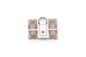 Gucci Gucci Canvas Key Case Beige Ebony / M.White