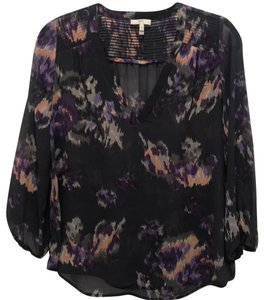 Joie Top grey with lilac and rose floral print
