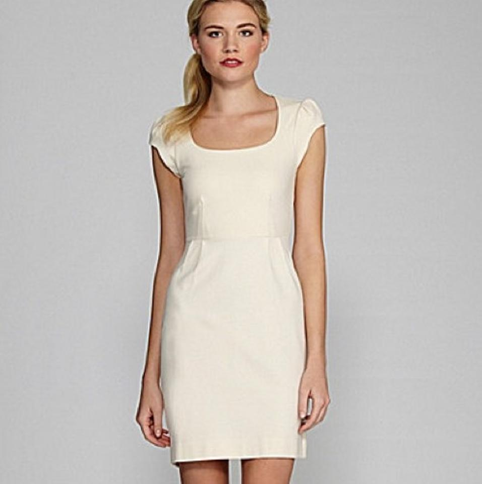 French Connection Cream Georgia Short Cocktail Dress Size 6 (S ...