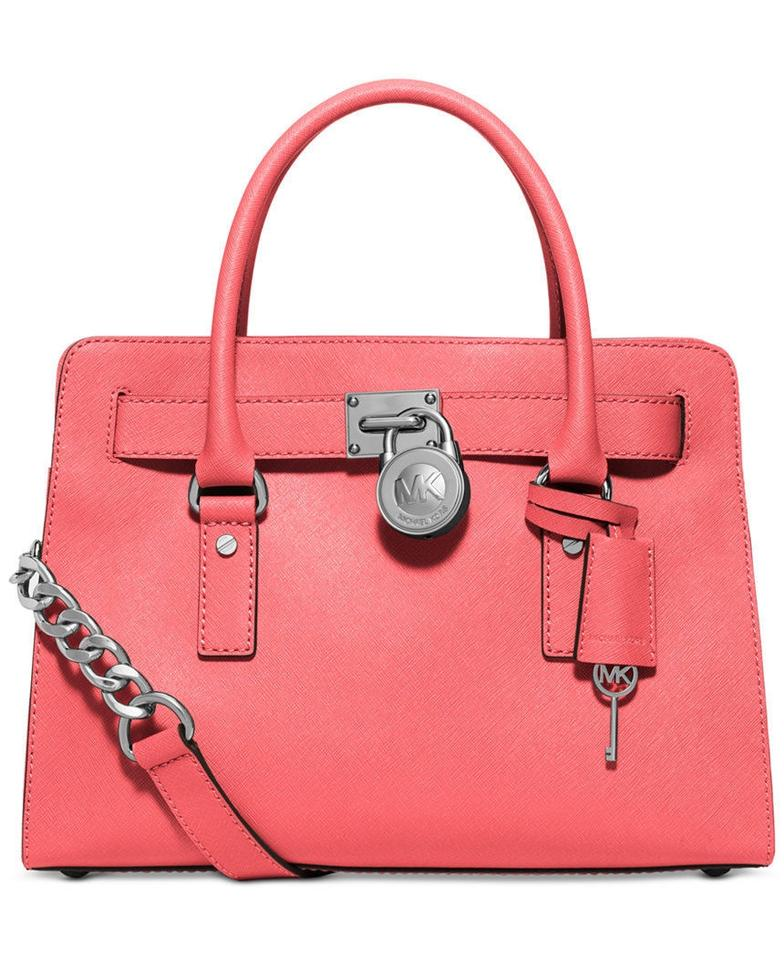 69c7208741 Michael Kors Hamilton East West (New with Tags) Coral Pink  Silver ...