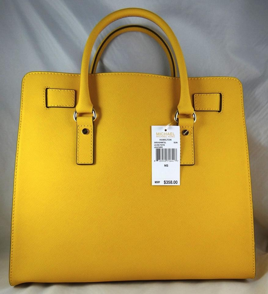 707d8b0569ae Michael Kors Hamilton Large (New with Tags) Sun Yellow Saffiano ...