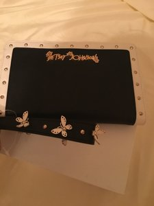 Betsey Johnson Black & White Clutch