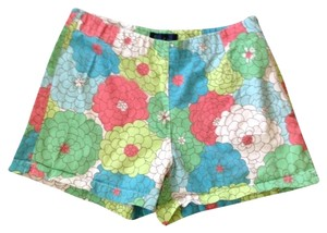 Boden Mini/Short Shorts Blue, Red and Green Floral