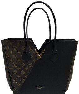 Louis Vuitton Lv Monogram Kimono Canvas Tote in brown & black