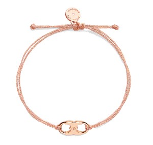 Tory Burch New Tory Burch Embrace Ambition Silk Gemini Bracelet Rose Gold