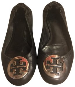 Tory Burch BLACK/Silver Flats