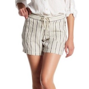 UNIONBAY Drawstring Allvoer Stripe Two Pockets Fly Closure Button Closure Shorts Origami