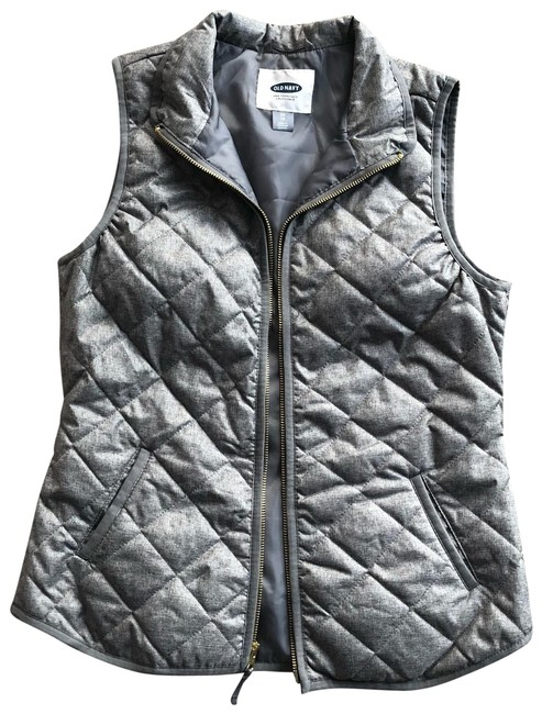 Item - Gray Quilted Vest Size 2 (XS)