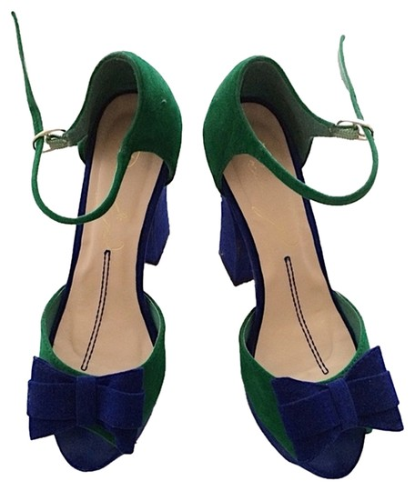 Preload https://item4.tradesy.com/images/blue-and-green-bow-sandals-platforms-size-us-7-narrow-aa-n-2274423-0-0.jpg?width=440&height=440