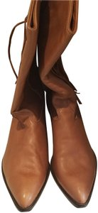 Zodiac Cowboy Suede Leather Brown Boots