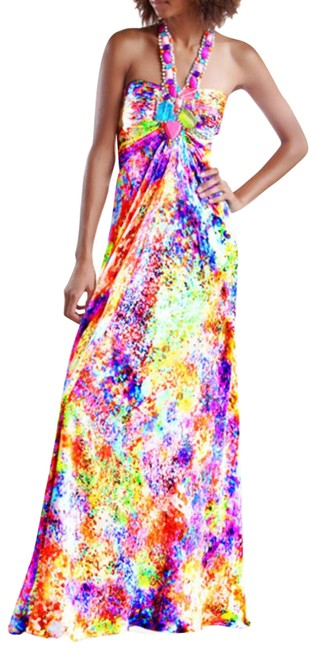Item - Multicolor Color In Long Formal Dress Size 2 (XS)