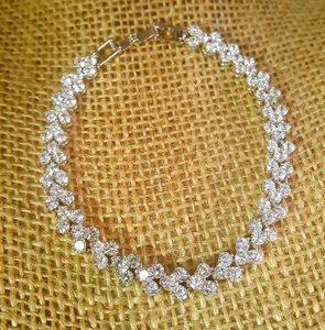 Silver Plated Ravishing Luxury Bridal Cz Bracelet Wedding White