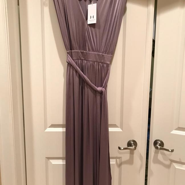 Item - Mauve Shirred Shoulder In Long Casual Maxi Dress Size 4 (S)